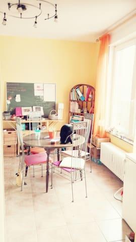 Agréable chambre dans un chouette appartement.