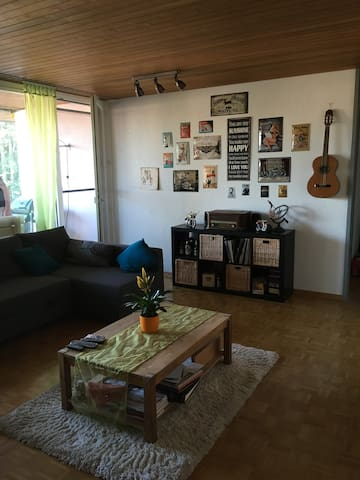 Big Room in a stress-free Rock'n'Roll Appartement - Schüpfen - Huoneisto