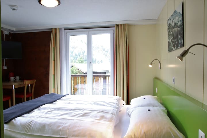 centrally located double room view Allalin
