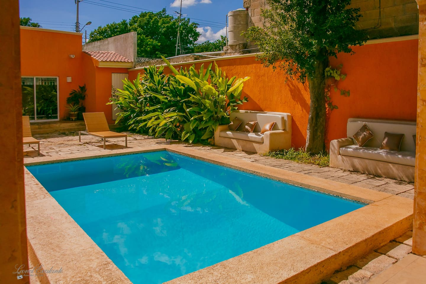 the pool is the most relaxing place on the main terrace, Yucatan is a warm place and you will love taking a bath in this small oasis