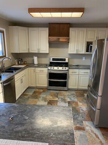 Full Kitchen- Refrigerator, Range, Dishwasher, Microwave & Coffee Maker