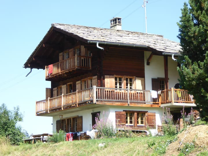 Magnificent chalet with splendid view for you only