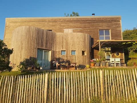 Wooden house Design Sublime view Dijon Beaune