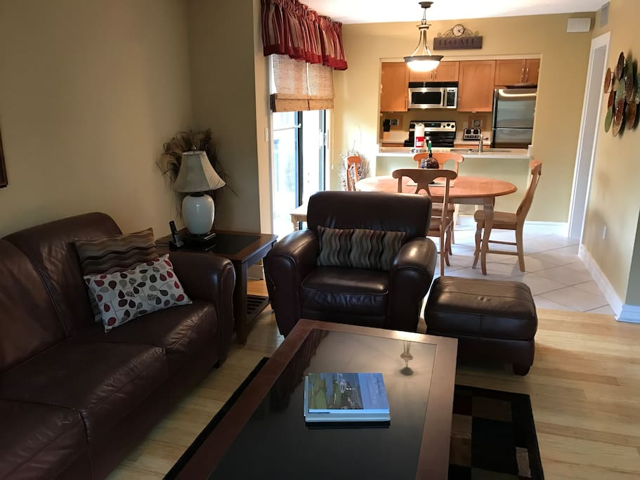 Large 3 bedroom 1300 sq ft of living space with all the upgrades, including Kuerig coffee maker and Roku.