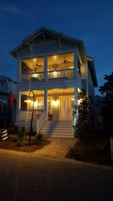 Every porch has sconce lighting and ceiling fans. 2 porches are screened.