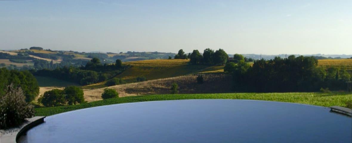 infinity pool with panoramic views