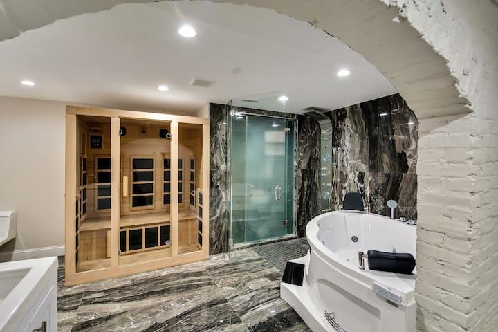 The SPA Lounge - Stylish 3BD /w Jacuzzi and Sauna
