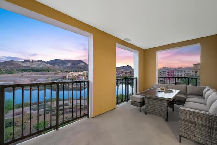 A masterpiece of Design, Luxury and Elegance!  Panoramic views of Lake Las Vegas