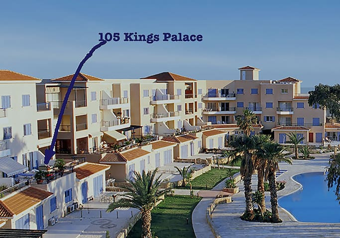 View of Resort and position of no 105 Kings Palace