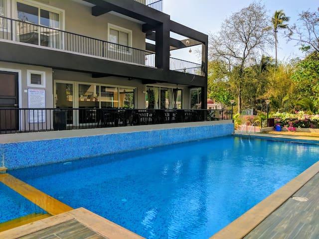 Comfortable 2BHK Apartment wt Pool Anjuna  Vagator