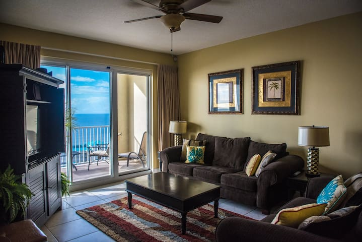 Romantic Ocean View from living room to bedroom - Miramar Beach - Huoneisto