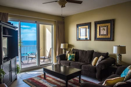Romantic Ocean View from living room to bedroom - Miramar Beach - Apartamento