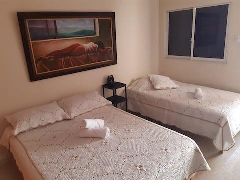 Habitación indep.  baño privado como  en tu  casa