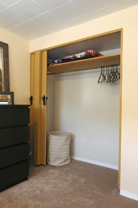 Ample closet space for your belongings.