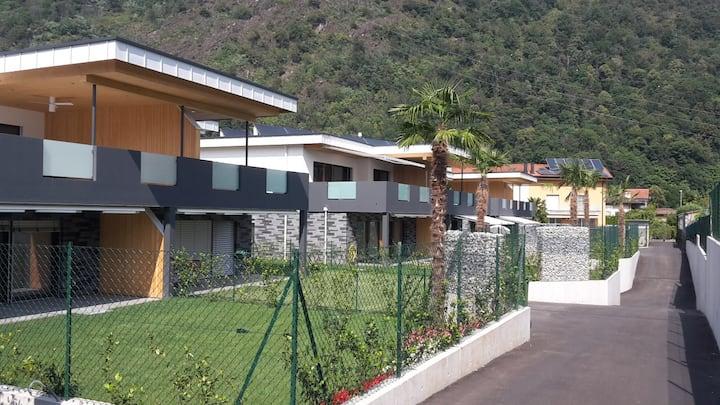 Moderne Gartenwohnung zwischen Ascona und Locarno