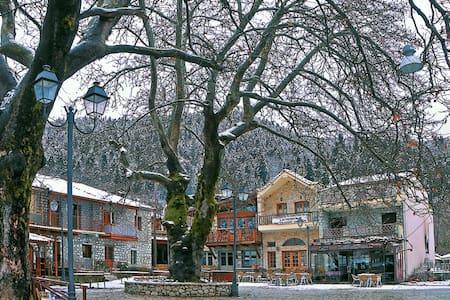 Winter house at mountainous Greece