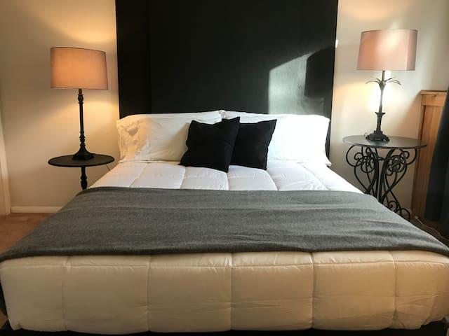Orchid House - Minimalist Black & White Bedroom
