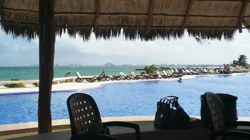 Amara Cancun Condo Lagoon front