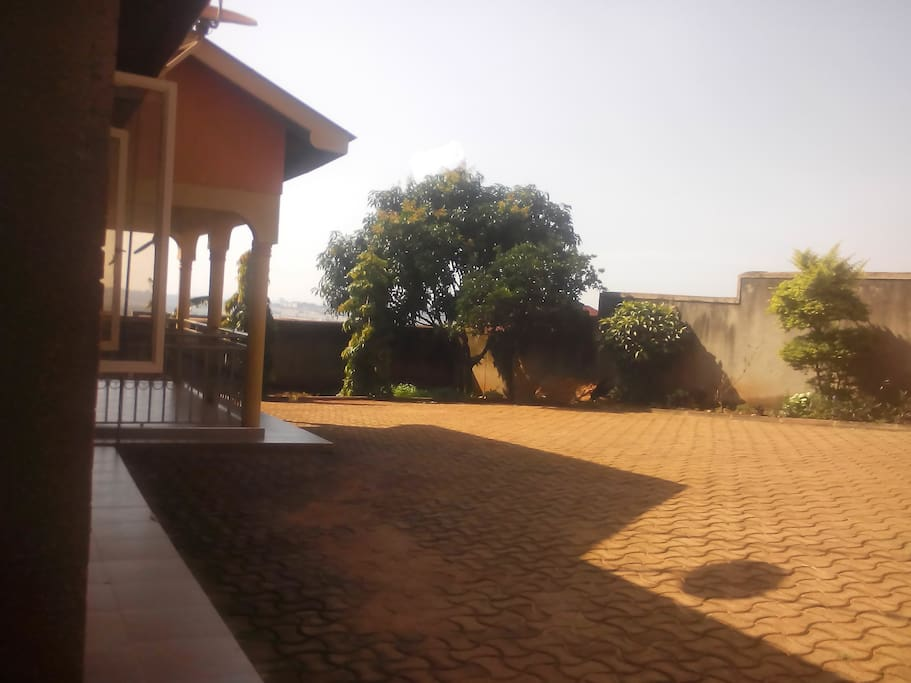 view of the compound