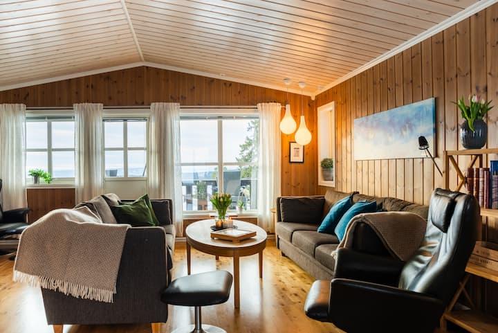 Stor flott hytte