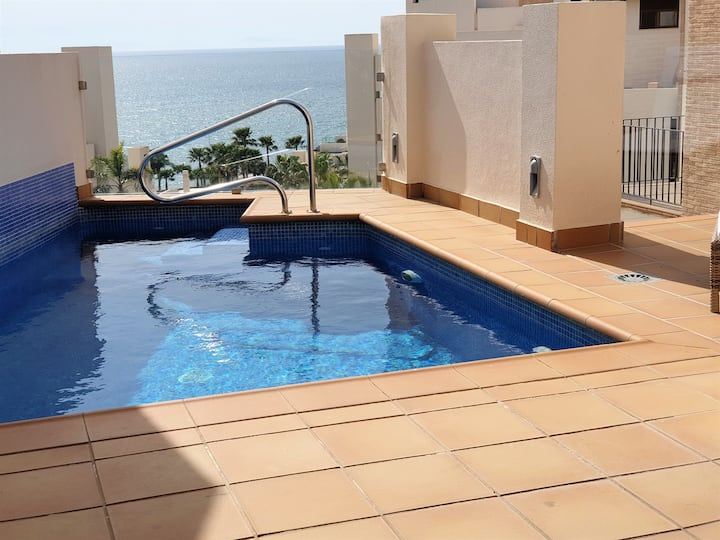 3 Bed Luxury Beach Front Penthouse wih own pool.