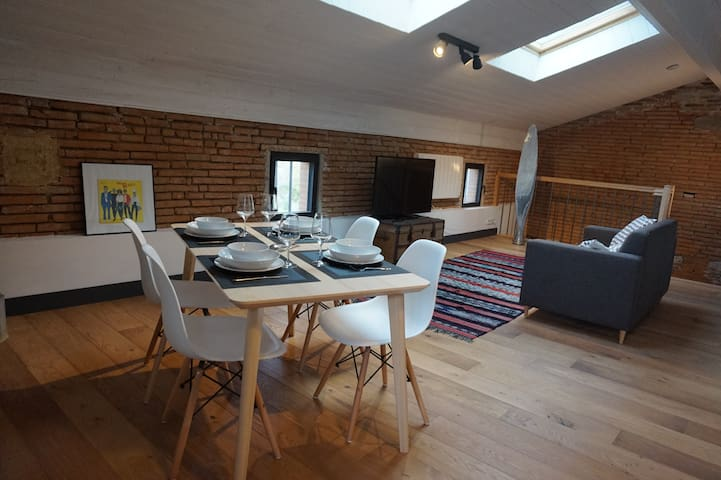 Appartement style loft 4 pers. Blagnac - Airbus - Beauzelle - Apartment