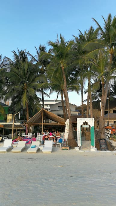 the Kasbah Boracay beachfront