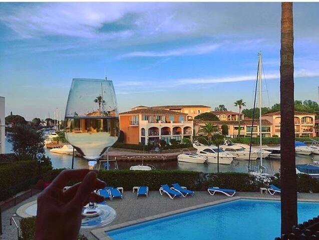 Appartement Port-Cogolin Résidence avec Piscine