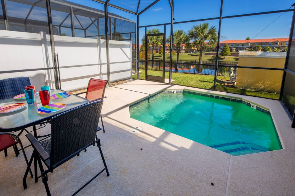During your stay here in Orlando, take at least an afternoon to enjoy your own privacy-walled pool and deck, where you can enjoy the Florida sunshine and your family's company.