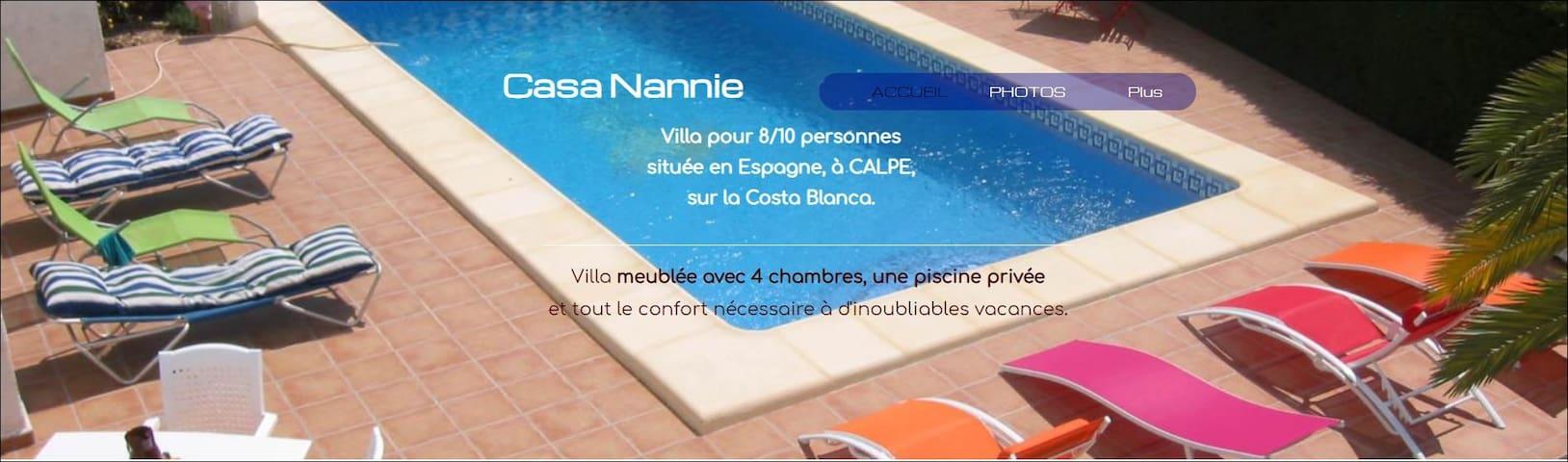 Casa Nannie Calpe vue sur la plage & les montagnes