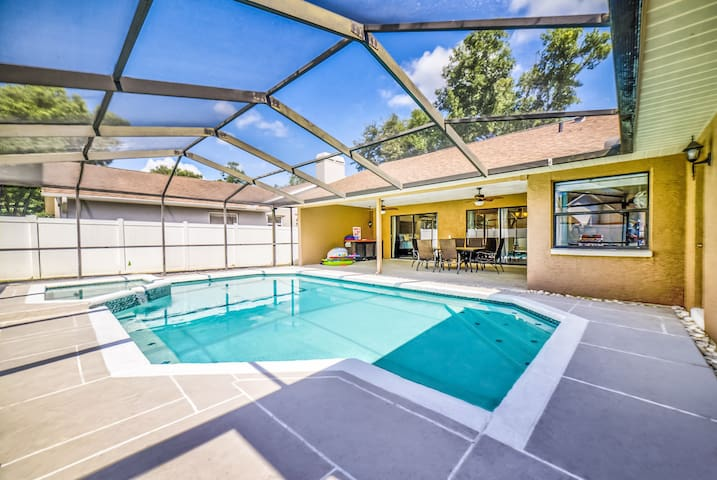 Spacious Patio Area - Steps away from the Swimming Pool!