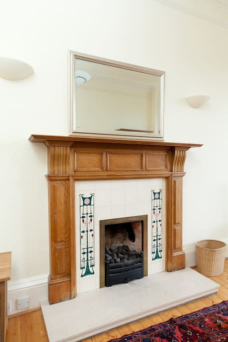 Fire place in living room