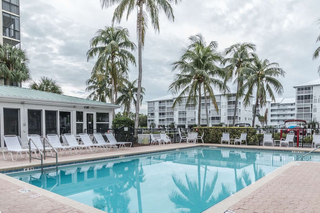 Relax poolside, take a refreshing swim in the full-size pool, or visit with neighbors in the community room.
