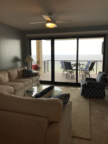 Beach front 6th floor condo with large patio