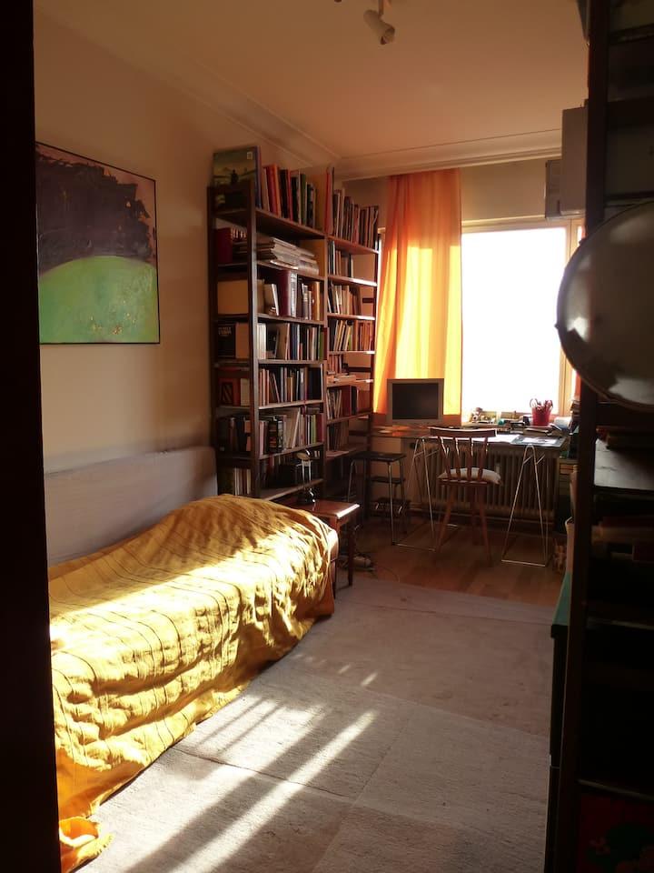 Simple single bed, beside ULB