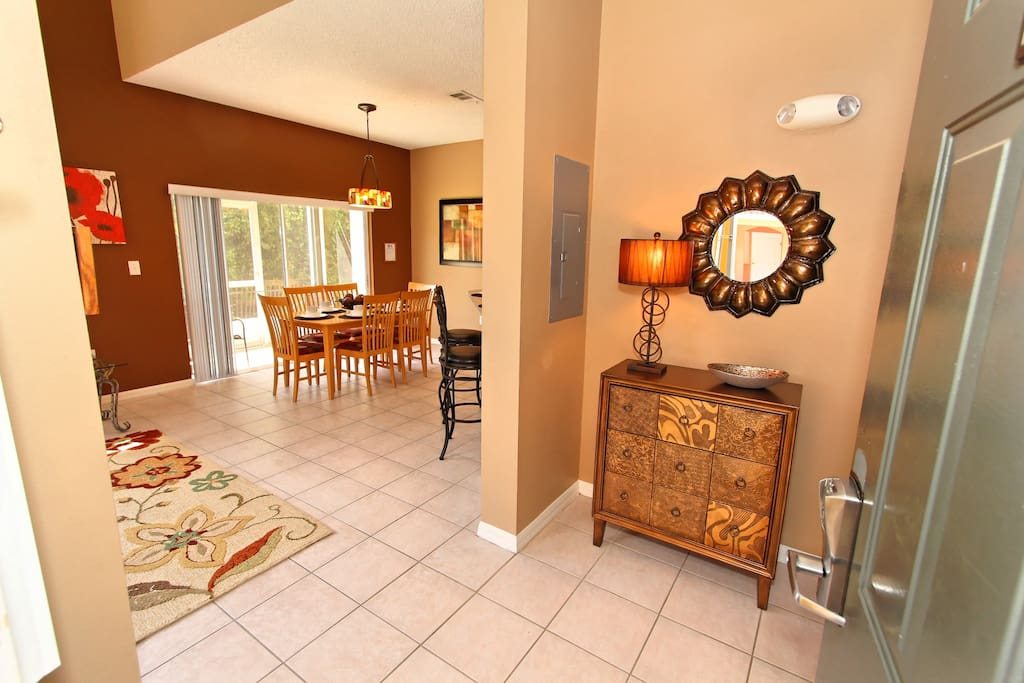 Step into your family's next vacation to the Orlando area when you walk into this wonderful townhouse. The door is fitted with the SecurePASS digital key-less lock system for your added convenience and security.