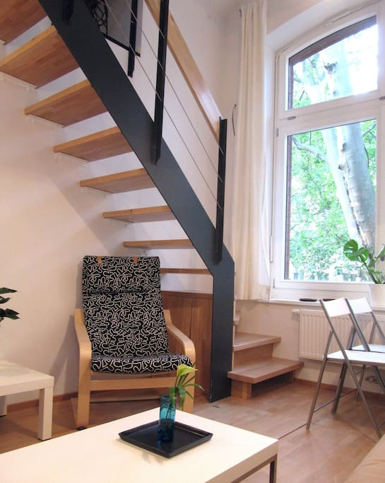 Two level loft apartment - but still on the first floor above ground level