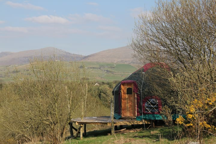 Beautiful Yurt, mountain and sea - Clynnog-fawr - Yurta