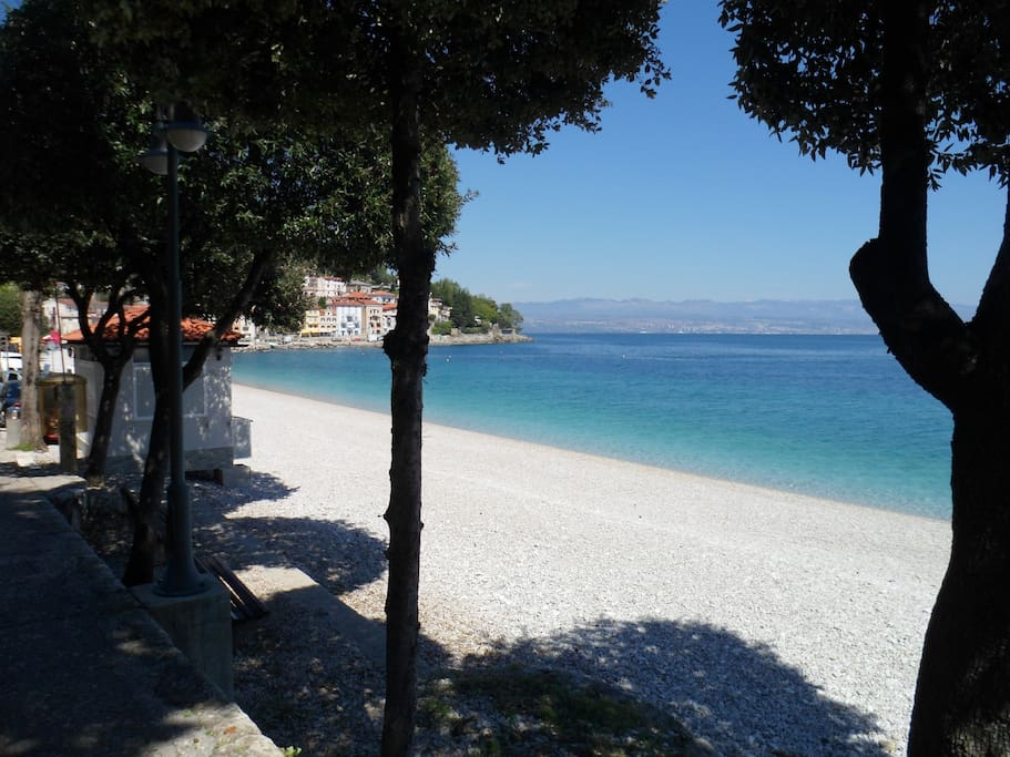 the nearest beach 100m
