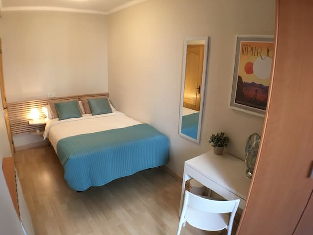 Bedroom 2 with double bed and desk/workstation