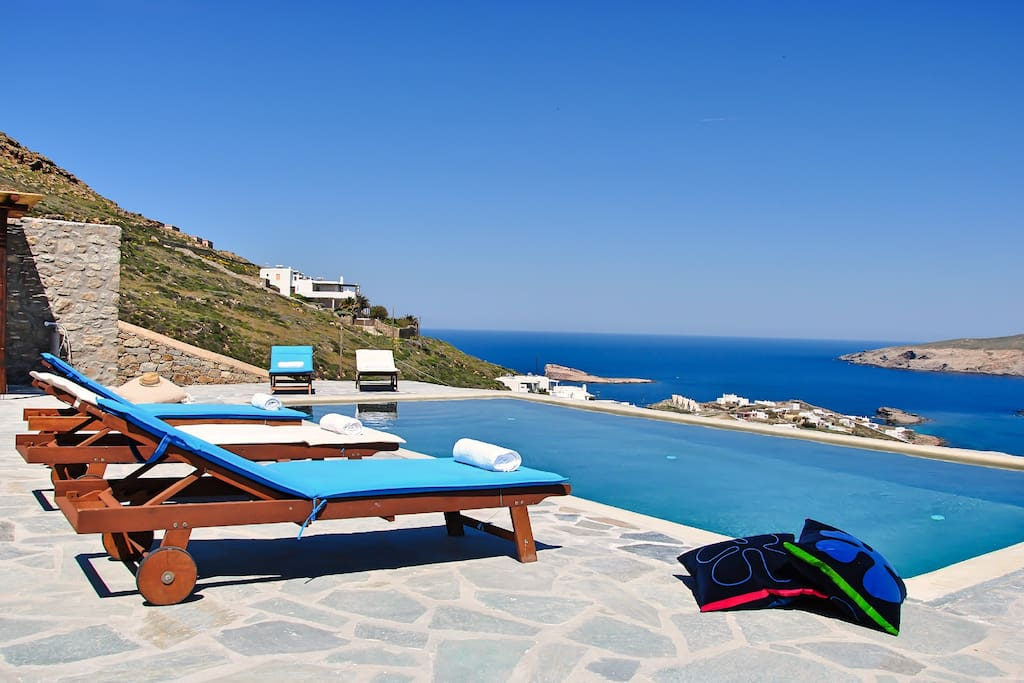Viiew of the Agean Blue from the Private pool