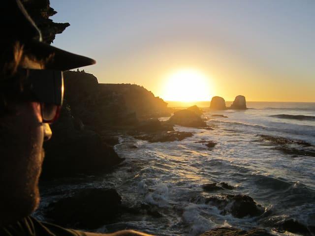 Vista de los Morros de Punta de Lobos a 7 km de las cabañas