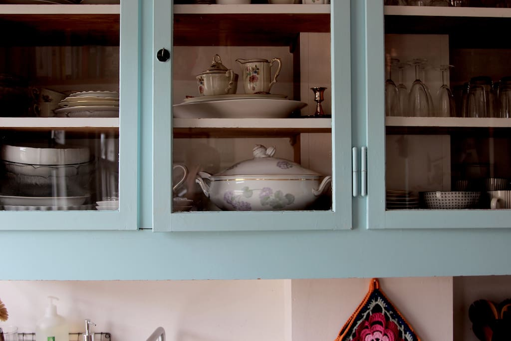 Ye olde China in the cupboards.