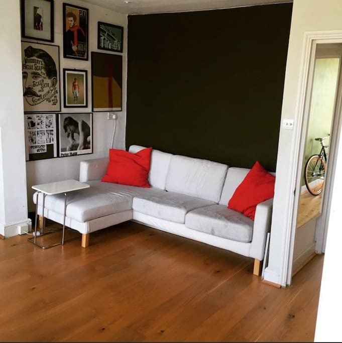 Spacious Living room with sofa (view 2)