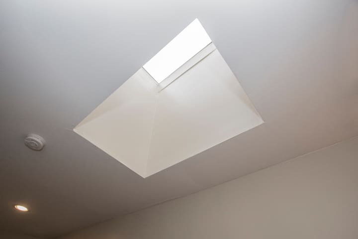 Skylight allows lots of natural light in unit
