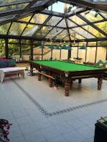Snooker Room with full size professional tables