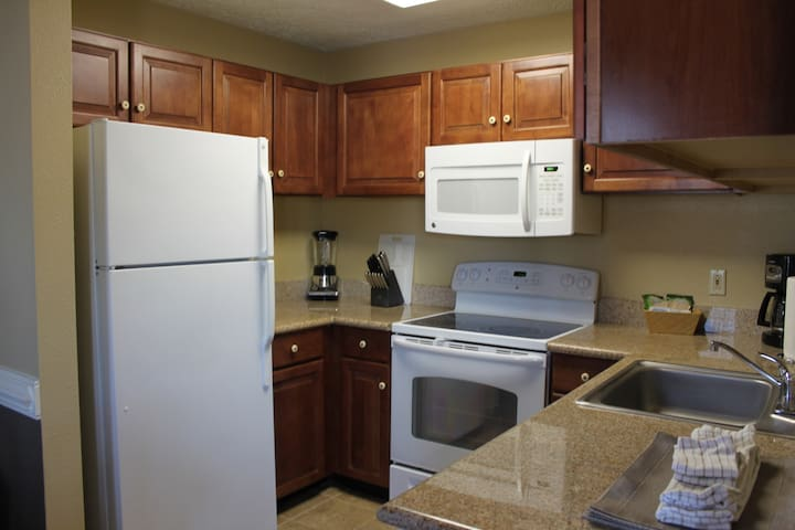 Fully-equipped kitchen to cook up tastes of home during your stay!