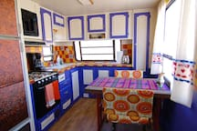 Happy and colorful Baja kitchen (all kitchenware, dish soap, paper towels, coffee and coffee maker, etc. are provided)