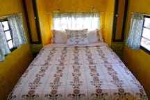 Your bedroom with a comfy queen size bed (we provide linens and towels)