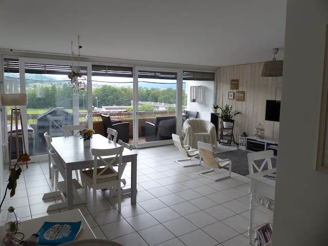 Charming and spacious 125m apartment - Brügg - Huoneisto